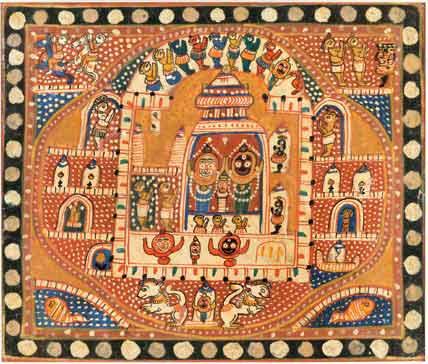 Jagannath temple triad